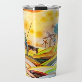 Don Quixote de La Mancha and Sancho Panza Travel Mug