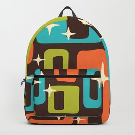 Retro Mid Century Modern Abstract Pattern 632 Backpack
