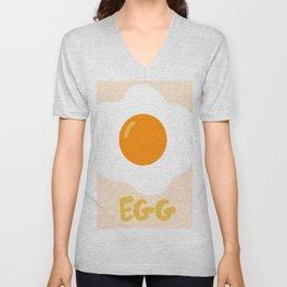 Egg orange Unisex V-Neck