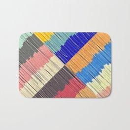 Cool Colors Collage Bath Mat