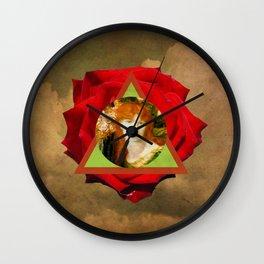 rosa roja Wall Clock