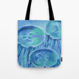 Striated Jelly Moons Tote Bag