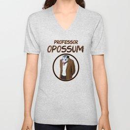 Professor Opossum Unisex V-Neck