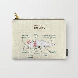 Anatomy of an Axolotl Carry-All Pouch