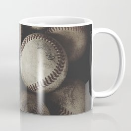 Grungy Baseballs on a Shelf Coffee Mug