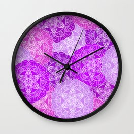 Solid purple color mandala Wall Clock