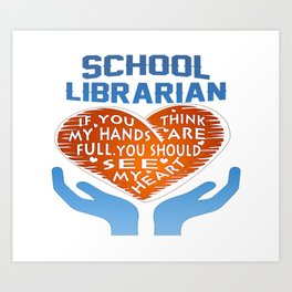 School Librarian Art Print