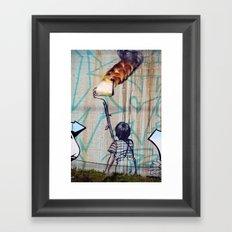 Rolling On Fire Framed Art Print