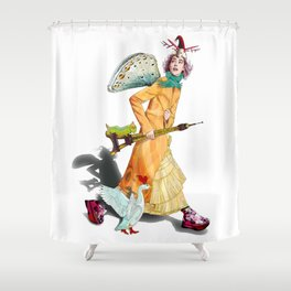 Fashion fitness 2 Shower Curtain