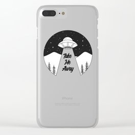 'Take Me Away' UFO Clear iPhone Case