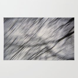 Blurry Tree Branches  Rug