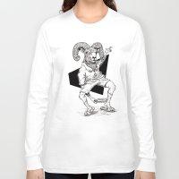 ram Long Sleeve T-shirts featuring Ram by Hopler Art
