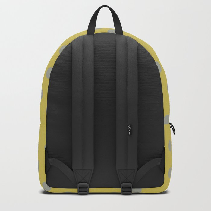 Simply Dots Retro Gray on Mod Yellow Backpack