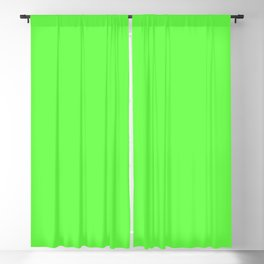 GREEN GECKO neon solid color  Blackout Curtain