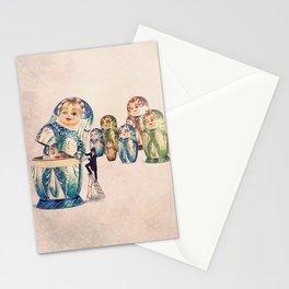 The matryoshkas opener Stationery Cards