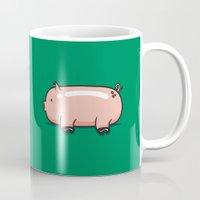 pig Mugs featuring Pig by Krisren28