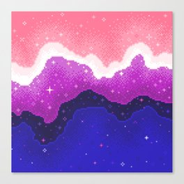 Genderfluid Pride Galaxy Canvas Print