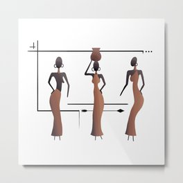 The Three African Sisters Metal Print