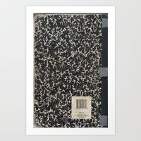 notebook Art Prints featuring Notebook by Zepto Grfx