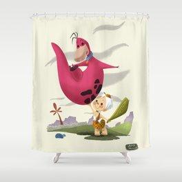 Bambam and Dino Shower Curtain