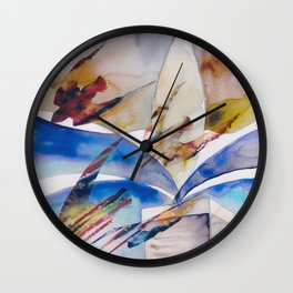 Diving Swifts Wall Clock