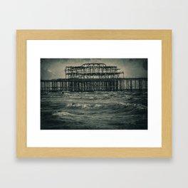 West Pier Framed Art Print