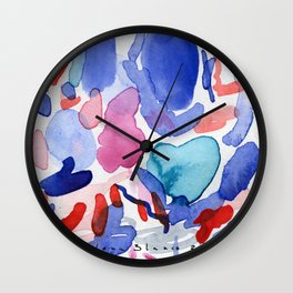 Reds and blues#2 Wall Clock