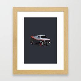 The A Team van illustration Framed Art Print
