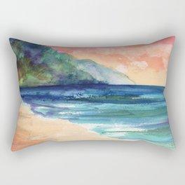 Ke'e Beach Rectangular Pillow