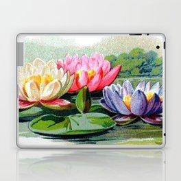 Vintage Lily Pad Floral Pond Lilies Laptop & iPad Skin