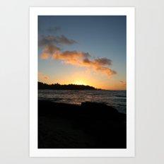 NORTH SHORE SUNSET Art Print