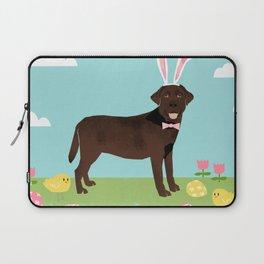Chocolate Lab labrador retriever dog breed pet art easter portrait costume spring Laptop Sleeve