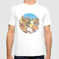 Italy Mens Fitted Tee MEDIUM White