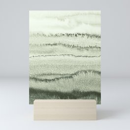 WITHIN THE TIDES - SAGE GREEN by MS  Mini Art Print