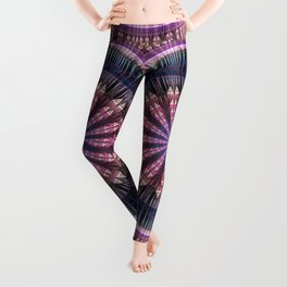 Star shine, tribal pattern mandala Leggings
