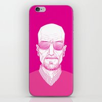 walter white iPhone & iPod Skins featuring Walter White by Ron Chan