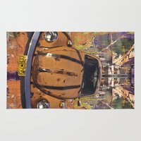 woodstock Area & Throw Rugs featuring VW ~Bug power by Bruce Stanfield