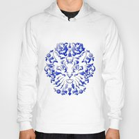 damask Hoodies featuring Cat Damask by Vannina