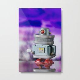 Red Eye Toy Robot Metal Print