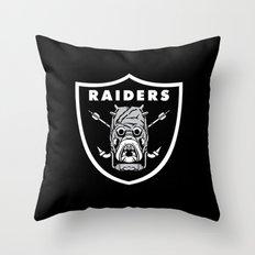 Raiders Throw Pillow