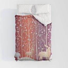 Deer In Forest Comforters