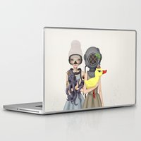 diver Laptop & iPad Skins featuring diver by Anne  Martwijit