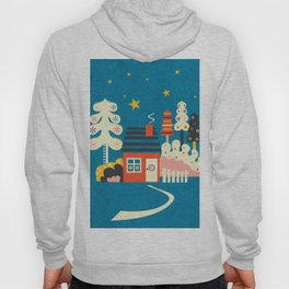 Festive Winter Hut Hoody