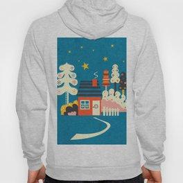 Festive Winter Hut Hoody