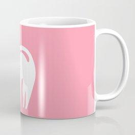 Cute White Cat with Bow Coffee Mug