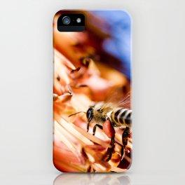 Bee in flight iPhone Case