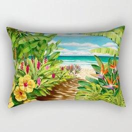 Floral Beach Path Rectangular Pillow