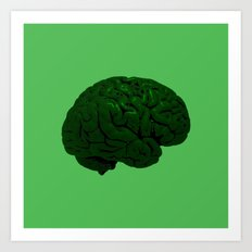 Brain of a Superhero - Hulk Art Print