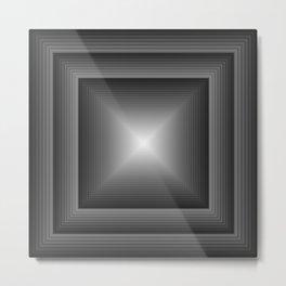 Geometric Art Squared Metal Print