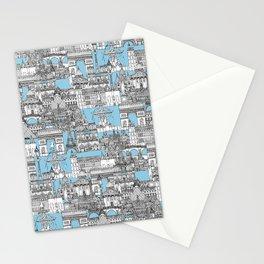 Paris toile cornflower blue Stationery Cards